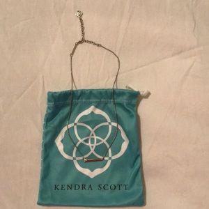 Kendra Scott Silver Bar Necklace